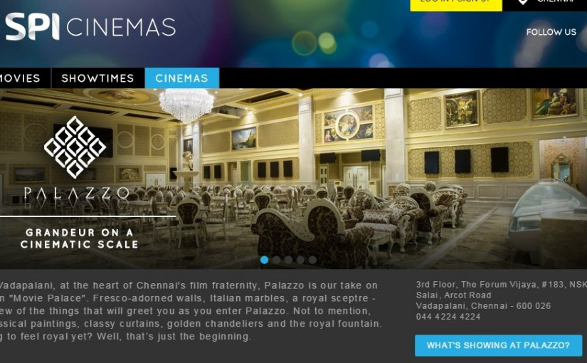 Palazzo Cinemas at Forum Mall Online Booking | Sathyam @ Vadapalani