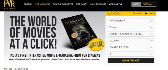 PVR-Vellacherry-Online-Booking-Screenshot