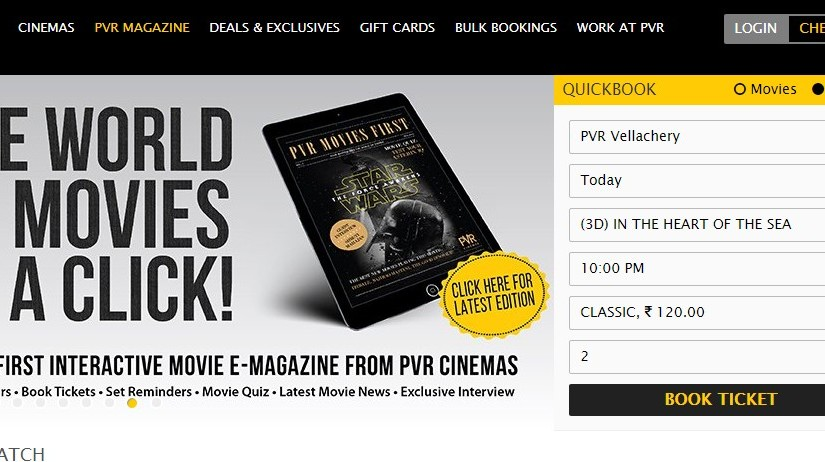 PVR at Grand Mall Velacherry Online Ticket Booking